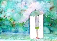 Watercolor perfect for rainy season