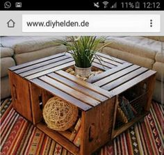 diy tisch aus alten obstkisten einrichtungsideen pinterest. Black Bedroom Furniture Sets. Home Design Ideas