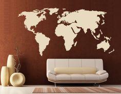 World Map - Wall Decals / Wall Tattoo