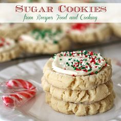 Copycat Lofthouse Sugar Cookies all dressed up for Christmas - Recipes, Food and Cooking