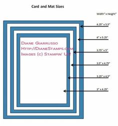 Card Sizes for Crafting - Bing Images Card Making Tips, Card Making Tutorials, Card Making Techniques, Making Ideas, Envelope Size Chart, Card Patterns, Card Envelopes, Planner, Card Sketches