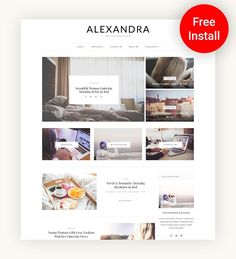 Alexandra - Multi-Concept Blog Theme by AZ-Theme on @creativemarket