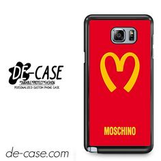 Moschino Logo DEAL-7424 Samsung Phonecase Cover For Samsung Galaxy Note 5