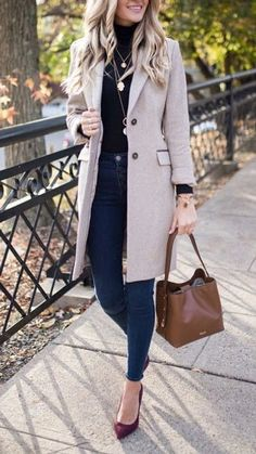 Autumn Fashion Women Fall Outfits, Winter Outfits For Work, Casual Winter Outfits, Classy Outfits, Stylish Outfits, Classic Outfits For Women, Autumn Casual, Warm Outfits, Casual Style Women