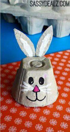 Eierkartons Hase Ostern
