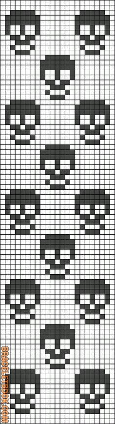 Tiny skull cross stitch pattern. #cross_stitch #skull #pattern