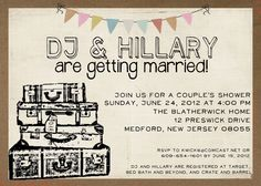 Wedding Shower DIY 5x7 Printable invite par Room1117 sur Etsy