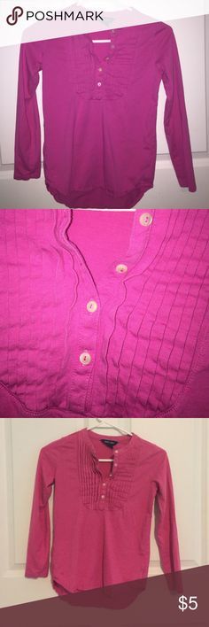 *Girls* Pink Ralph Lauren Top Girls size M (8-10). Long sleeved, hi-low style. Halfway button-up with pleated chest. In great condition. Ralph Lauren Tops
