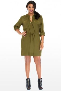 Plus Size Jordan Zip Pocket Tunic Dress | Fashion To Figure $32.90
