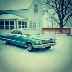 Vintage Photo 1960s Car And House In Snow | Flickr - Photo Sharing!