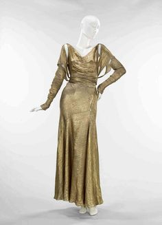 Gold lame kleid