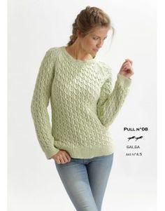 Modèle pull CB20-08 - Patron tricot gratuit