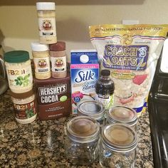 My first time making #overnightoats Gonna make a few different ones and see what I like #coachsoats #pb2 #FlavorGod