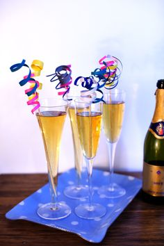 Project #1 from @Michelle Edgemont: Curly Q Drink Stirrers    #crafts #holiday #pinspirationparty