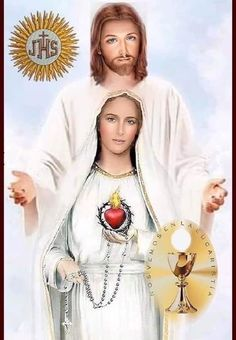 Jesus And Mary Pictures, Pictures Of Jesus Christ, Catholic Pictures, Mary And Jesus, Divine Mother, Blessed Mother Mary, Blessed Virgin Mary, Jesus Christ Painting, Jesus Photo