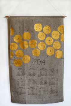 2014 Disco Dots Wall Calendar by jenhewett on Etsy, $32.00