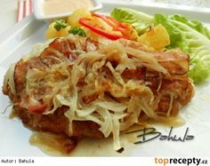 Moje řízky naruby Cabbage, Spaghetti, Pork, Food And Drink, Snacks, Meat, Vegetables, Ethnic Recipes, Cooking