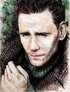 Tom Hiddleston art by SakuTori