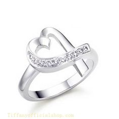 Tiffany & Co Outlet Paloma Picasso Loving Heart Diamonds -$49.96