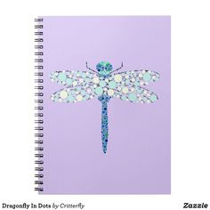 Dragonfly In Dots Notebook Notebook, Dots, Stitches, The Notebook, Exercise Book, Notebooks