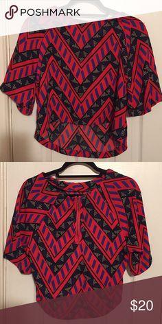 Aztec tribal print shirt Crop top. With zipper in the back Tops Crop Tops