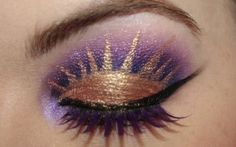 Princess inspired eye makeup .x