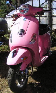 """""""Fall""""ing for Vintage Flair Pink Moped, Pink Vespa, Vespa Girl, Scooter Girl, Vintage Vespa, Motor Scooters, Vespa Scooters, Rosa Vespa, Bicycles"""