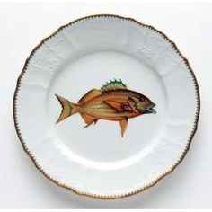 Anna Weatherley Antique Fish 9.5 In Dinner Plate No. 4