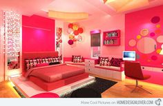 cool bed rooms | Home Design Lover 20 Pretty Girls' Bedroom Designs - Home Design Lover