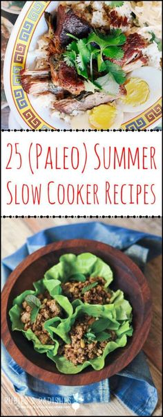 , summer diet , 25 (Paleo) Summer Slow Cooker Recipes - Rubies & Radishes Source by arsy. Slow Cooker Fajitas, Slow Cooker Enchiladas, Slow Cooker Lasagna, Slow Cooker Roast, Slow Cooker Chili, Crock Pot Recipes, Healthy Crockpot Recipes, Slow Cooker Recipes, Paleo Recipes