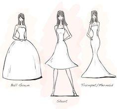 Vestidos para novias con silueta de triángulo invertido