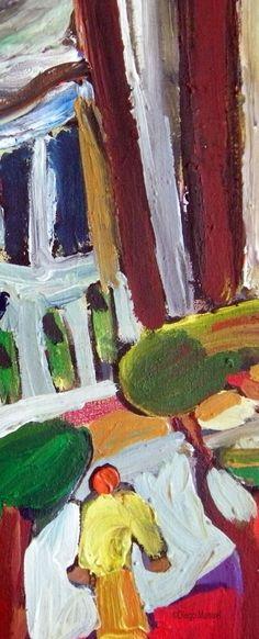 Escuela Normal 1. Painting for sale of the Serie Cityscape by Diego Manuel. Pintura del la Serie Ciudades en venta
