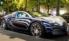 Unique £1.6m Bugatti Veyron supercar made of PORCELAIN on Paris street!  (Park inside with Balboa Catalina Parking).