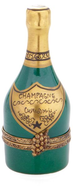 One Kings Lane - With Love - Champagne Bottle Limoges Box