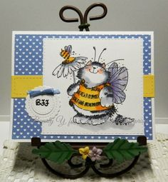 Meowwwww Buzz Buzz by kraftyaunt - Cards and Paper Crafts at Splitcoaststampers