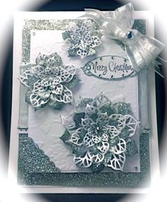 FS397, Silver Poinsettias by Cards_By_America - Cards and Paper Crafts at Splitcoaststampers