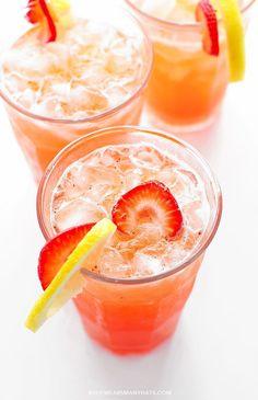 Strawberry Lemonade Recipe shewearsmanyhats.com