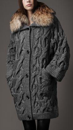 Вязаное Пальто Подиум