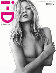 Kate Moss by Tesh on the cover of i-D Magazine September 2005