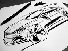 Raquel Villani. Pen Sketch, Sketch Markers, Exterior Rendering, Exterior Design, Industrial Design Sketch, Car Illustration, Illustrations, Car Design Sketch, Islamic Art Calligraphy