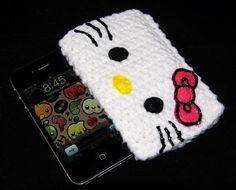 Hello Kitty iPhone 4/4S Case Ready to Ship by perfectfitcrochet, $16.00