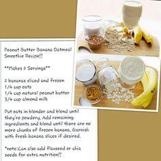 Peanut Butter Banana Oatmeal Smoothie Recipe