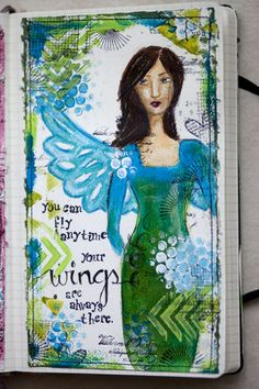 art journal -- You can fly anytime. Your wings are there.