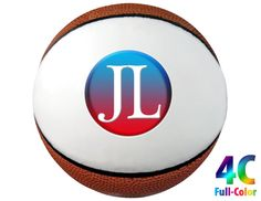 Full-Color Imprint on Mini Basketball with One White Signature Panel.
