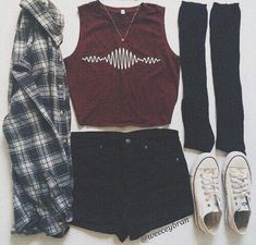 hipster outfits for school Hipster Shirts, Hipster Outfits, Edgy Outfits, Mode Outfits, Grunge Outfits, Fashion Outfits, Converse Fashion, Hipster Clothing, Dance Outfits