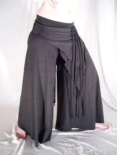 Yoga tribal bellydance VERY comfy pants charcoal - YOUR SIZE. $70.00, via Etsy.