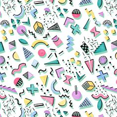 Elise Chevry | Memphis frenzy | Make it in Design | Module 3 Student Showcase | The Art and Business of Surface Pattern Design