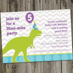Dinomite Printable Dinosaur Birthday Party by partymonkey on Etsy, $15.00