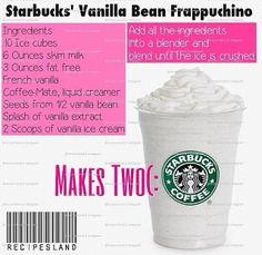 DIY Starbucks Frappachino