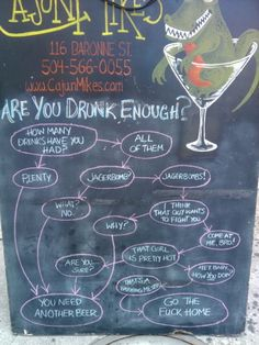 If you can read this, you need another drink.